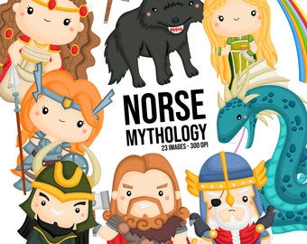 Norse Mythology Clipart - Viking Clip Art - Scandinavia Clip Art- Free SVG on Request