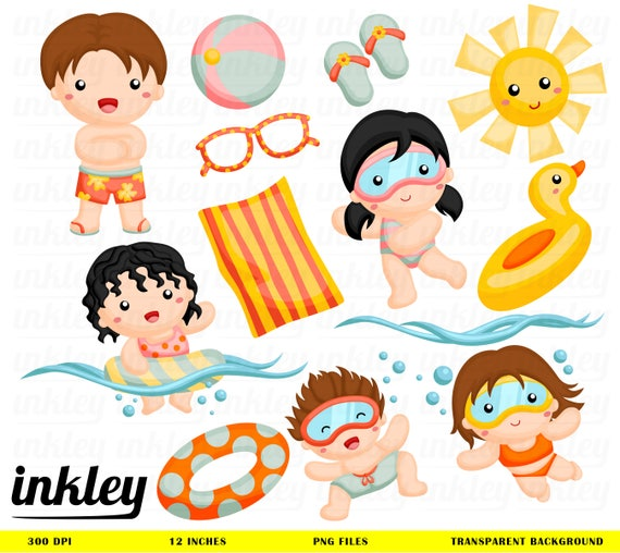 Schwimmen Sie Clipart Clipart Schwimmen Schwimmen Png Etsy