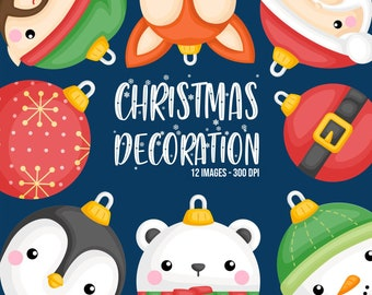 Christmas Decoration Clipart - Christmas Ball Clip Art - Holiday Clipart - Free SVG on Request