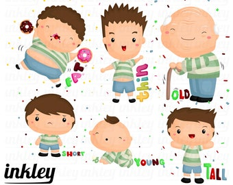 People Characteristic Clipart - Body Type Clip Art - Cute People and Kids - Free SVG on Request