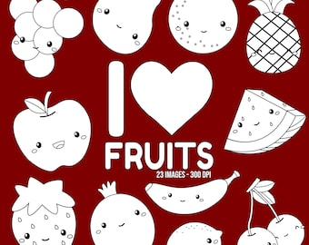 Healthy Fruits Clipart - Watermelon Slice  Clip Art - Black and White - Free SVG on Request