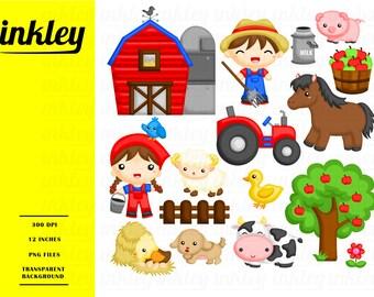 Farm Animal Clipart - Farmer Life Clip Art - Cute Animal - Free SVG on Request