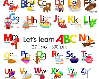 Object Alphabet Clipart - Education and Learning - School Study - Free SVG on Request
