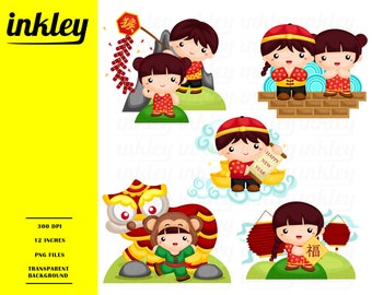 Chinese New Year Clipart - New Year Clip Art - Chinese Tradition - Free SVG on Request