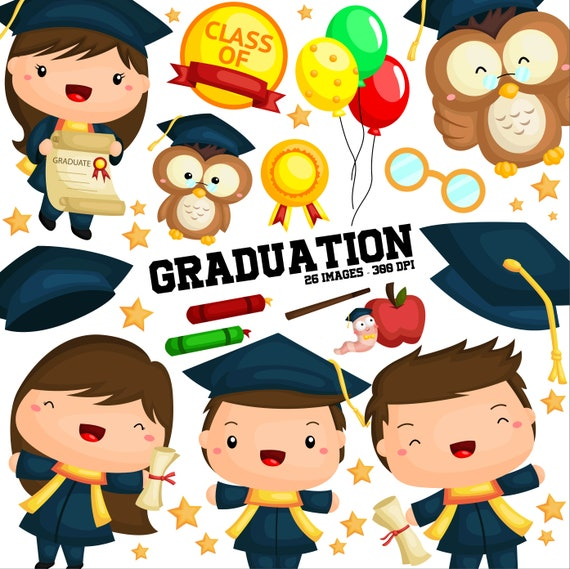 Student And Graduation Clipart School And University Clip Etsy