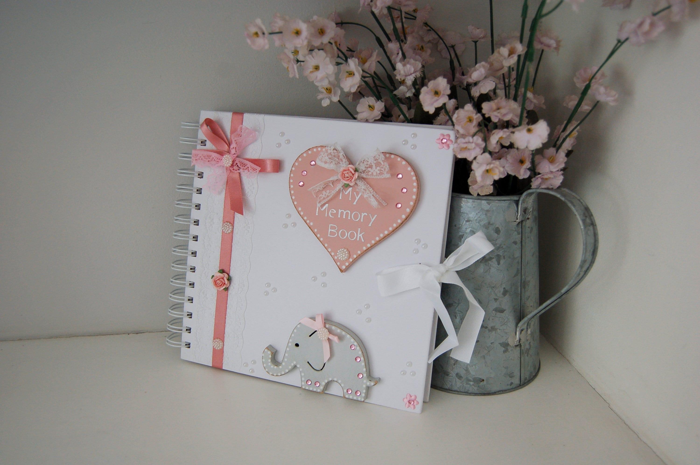 Personalised Baby Christening Photo Album//Scrapbook//Memory Gift With Box