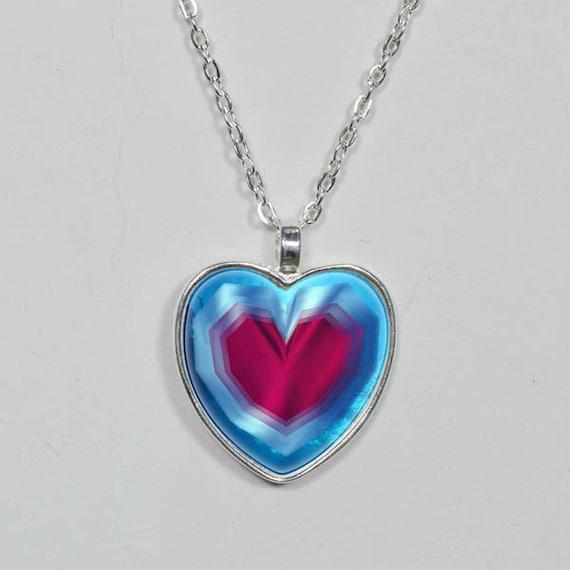 Zelda Heart Container Necklace: Heart Zelda Zelda Heart Container Pendant Legend Of Zelda
