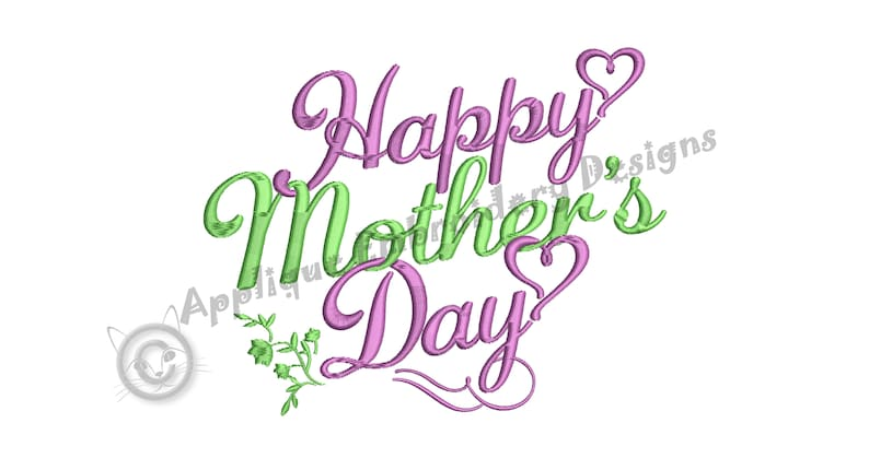 Happy MOTHER/'S DAY Embroidery Design-Love Mom Embroidery-Quotes Embroidery-Machine Embroidery Patterns-Instant Download-pes-vip-exp-dst-jef