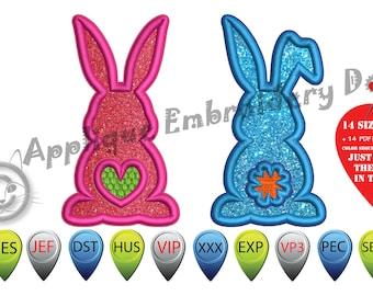 BUNNY BUTT Applique Embroidery Designs,Bunny Applique,EASTER Applique Designs,Rabbit Applique,Happy Easter,Easter Bunny,Cottontail,Bunny Bum