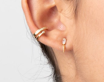 Ear Cuff No Piercing Gold, Fake Piercing Cuff, Cartilage Earring, Wrap Earring, Conch Hoop, Gold Filled Earring, Dainty Earring, Minimalst