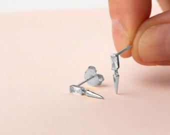 Charm Hoop Earring, Spike Earring, Horn Earring Dangle,Dainty Earring, Minimalist Earring, Second Hole Stud Earring,Cone Earring,Single Stud