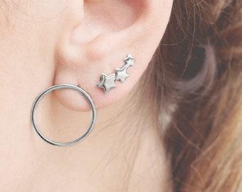 Triple Star Earring, Constellation Ear Climber, Star Earring, Cartilage Ear Climber, Star Cartilage, Triple Piercing, Constellation Earring