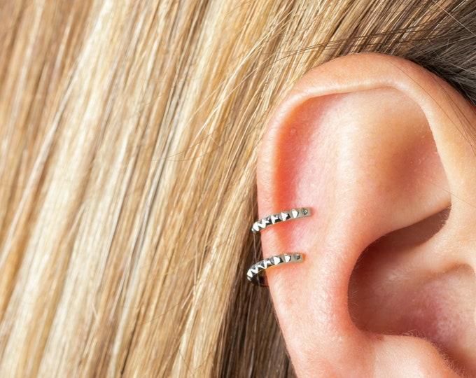 Small Ear Cuff, Thin Ear Cuff, Mini Ear Cuff, Ear Cuff No Piercing Sterling Silver, Earring Cartilage, Wrap Earring, Tiny Ear Cuff