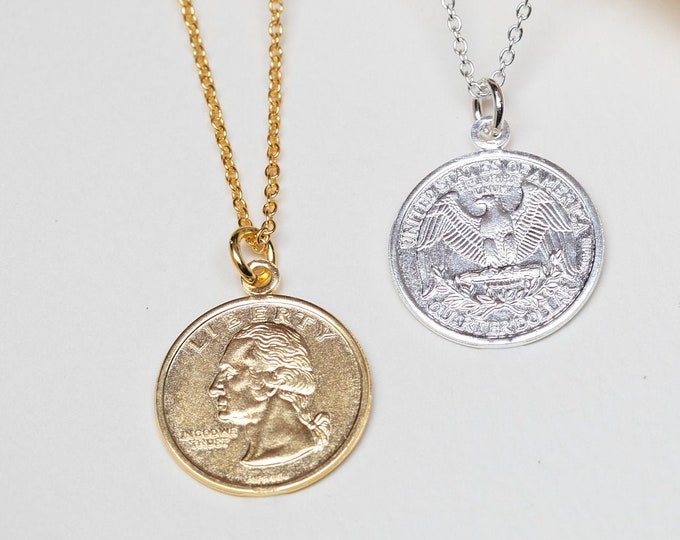 Coin Necklace Gold, Coin Necklace Sterling Silver, Coin Jewelry, Coin Necklace Men, Coin Pendant, Medallion Necklace Women, Layer necklace