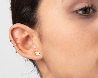 Ear Cuff No Piercing, Fake Piercing Ear, Gold Filled Cartilage Earring, Wrap Earring, Conch Ear Cuff,  Single Ear Cuff, Fake Helix Piercing