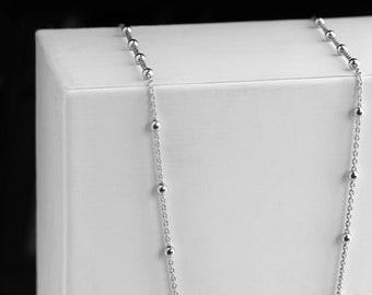 Dot Choker Necklace, Dainty Gold Dot Choker, Ball Chain Choker, Satellite Chain Necklace, Sterling Silver Choker Women, Minimalist Choker
