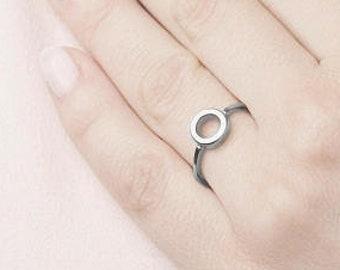 O Ring, Circle Ring Women, Endless Ring, Round Ring, Loop Ring, Circle Ring, Geometric Ring, Eternity Ring, Karma Ring, Open Ring,Thick Ring