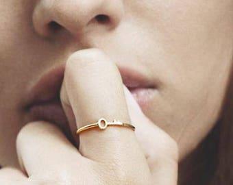 Key Ring, 2 Ring Set, Dainty Ring, Delicate Gold Ring, Simple Gold Ring, Minimalist Ring, Midi Ring, Matching Ring, Stacking Ring Set