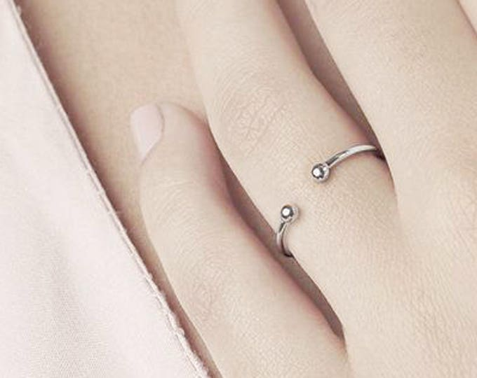 Open Ring, Dainty Ring, Minimalist Ring, Stack Ring, Adjust Simple Ring, Tiny Ring, Midi Ring, Cuff Ring, Sterling Silver Ring,Delicate Ring