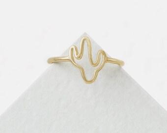 Cactus Ring, Succulent Ring, Nature Lover Ring, Botanical Ring, Western Ring Woman, Flower Ring Sterling Silver, Saguaro Jewelry,Desert Ring
