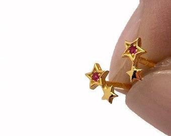 Star Stud Earring, Mini Earring, 5mm Stud Earring, Small Earring, Sterling Silver Earring, Zircon Earring, Second Hole Earring, Dainty Stud