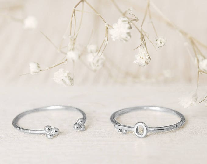 Simple Ring, Dainty Thin Ring, Open Cuff Ring, knuckle ring, Stack Ring Set, Minimalist Ring Sterling, Upper Finger Ring, Midi Ring, Circle