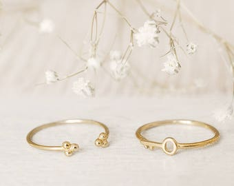Thin Dainty Ring, Open Ring, Gold Stack Ring, Minimalist Ring, Cuff Ring, Upper Finger Ring, Midi Ring, Adjust Ring,Simple Dainty Ring, Dot
