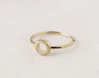 O Ring, Open Circle Ring, Gold Fill Ring, Eternity Ring Women, Round Ring, O Jewelry, Loop Ring, Endless Ring, Stack Ring, Geometric Jewelry