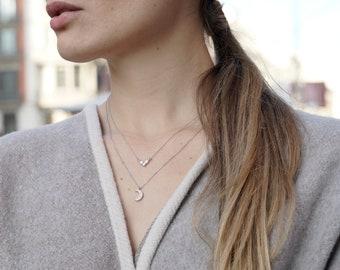 V Necklace Silver, V Jewelry, Dainty Necklace Women, Small Necklace Women, Diamond Shape Necklace, V shaped Necklace, Pointed Necklace