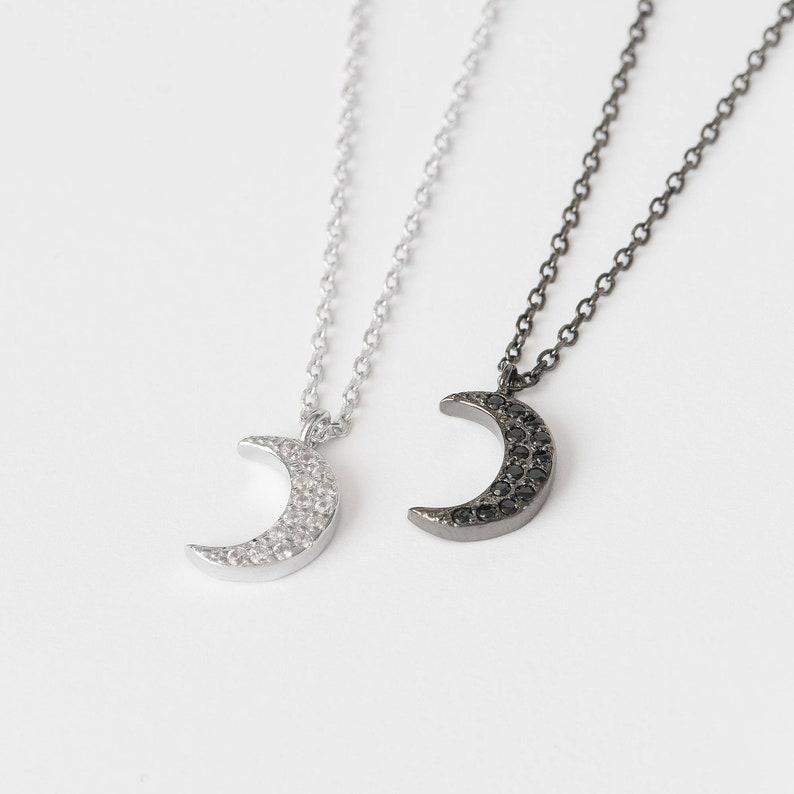 4230fd7f287b Collar Luna Circonitas Collar Luna Creciente Colgante Luna