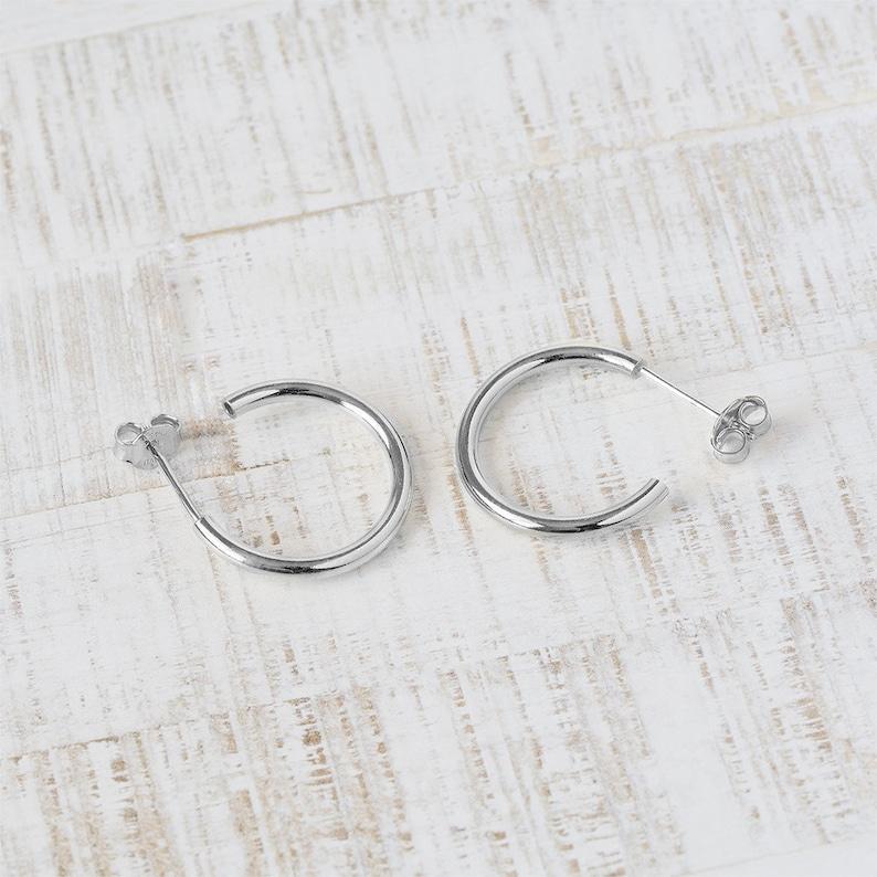 Half Hoop Earring Dainty Hoop Earring 10mm Hoop Earring Hoop Stud Earring Creole Gold Minimalist Hoop Earring Gold fill Hoop Earring