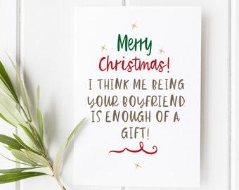 Christmas Card girlfriend | Boyfriend Christmas Card Partner Christmas Card | Gay Christmas Card | Same sex Christmas Card  Funny Christmas