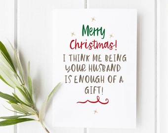 Funny Christmas card for wife | wife funny Christmas card | Rude Christmas card wife | rude wife Christmas | funny Christmas cards | Cards