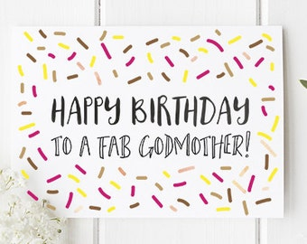 Birthday Card Godmother For Happy To A Fab