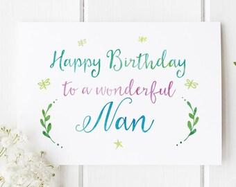 Nan Birthday Card Beautiful For Nanny Greeting Cards