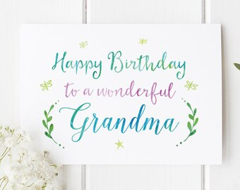 Grandma card etsy grandma birthday card birthday card for grandma grandma card pretty card greeting card card cards birthday cards m4hsunfo