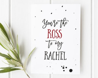 Funny Valentine's Day Card / Friends TV Show Card / Boyfriend Card / Card for Boyfriend / Geek card / Friends Fan / Funny Card