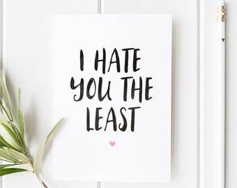 Friendship Card / Love Card / Valentines Card  / Anniversary Card / Boyfriend Card / Girlfriend Card / Funny Card / Greeting Card