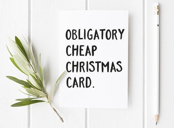 funny christmas card funny cheap christmas card etsy