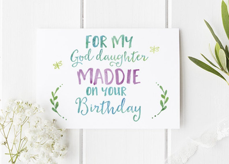 God Daughter Birthday Card Personalised Perfect