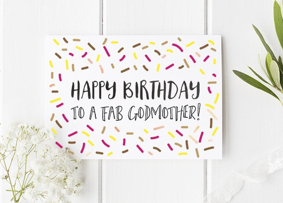 Birthday Card Godmother Birthday Card For Godmother Happy