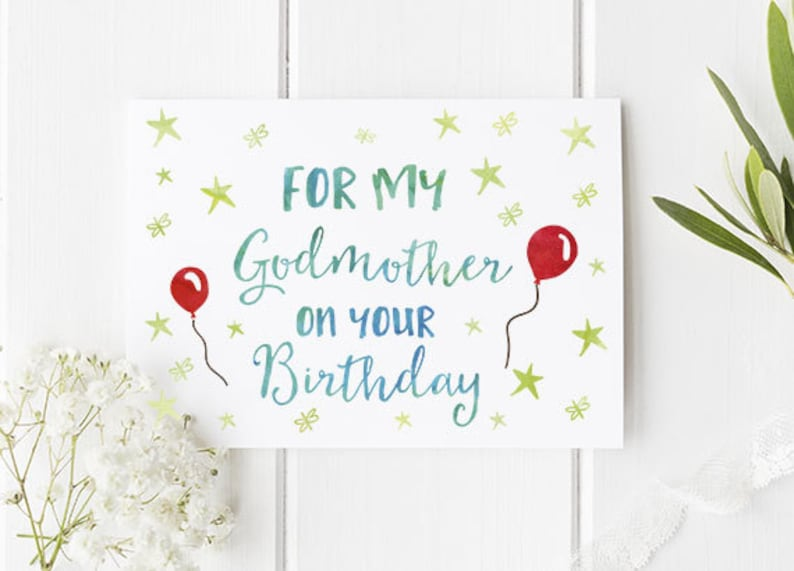 Godmother Birthday Card Perfect For