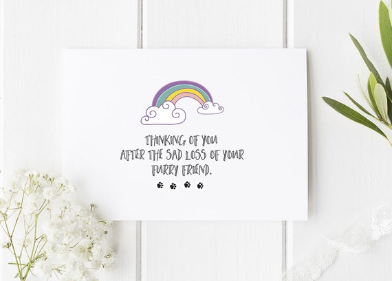 With Sympathy Card Mourning Card Death of Parent Card Sympathy Card Sorry For Your Loss Card Death of Pet Card Loss Card