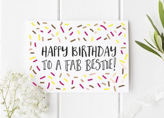 bestie birthday card / happy birthday best friend
