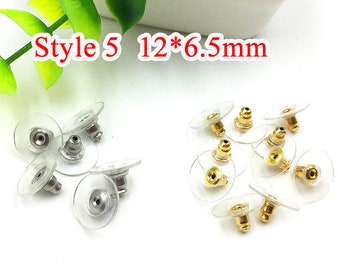 100 Rubber Earring Safety Back Stoppers Post cb