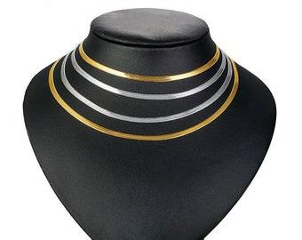 Flat Choker Adjustable Choker Necklace Black Plated Findings Choker Necklace Neck Cuff ACN CHK222 10x260mm Black Plated Choker