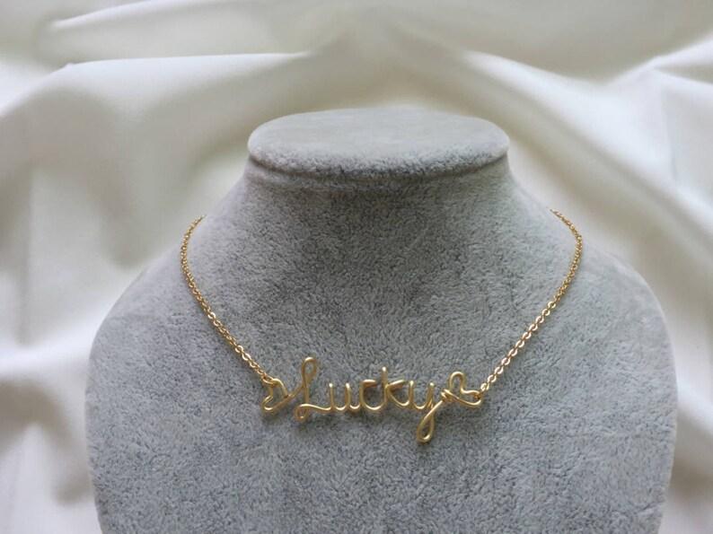 Monogram Necklace Birthday Gift Personalized Necklace Name Necklace Custom Word Necklace Personalized Jewelry Wire Wrapped Jewelry