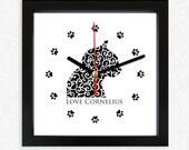 Wall clock Cat  Alhambra 'Love Cornelius', pets, cat design, black wooden, birthdays, Home Decor, Design, Gift, friends, Kids, Nursery