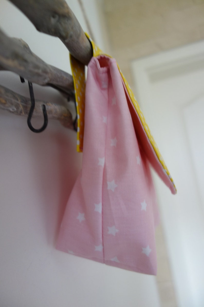 yellow Pink Waterproof handlebar bag unicorn with wish name