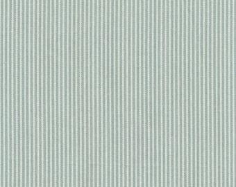 AU MAISON oilcloth Stripes Ice Green coated cotton
